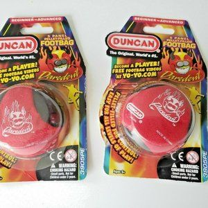Duncan Footbag Daredevil Red Black Lot Of 2 Kids T